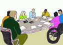 Clip art picture - meeting on disability