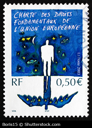 EU Fundamental Rights Charter stamp