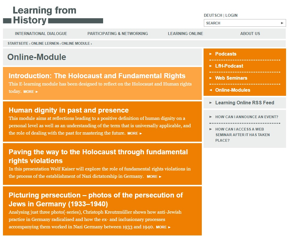 Online module: The Holocaust and Fundamental Rights