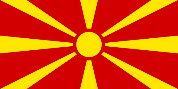 Former Yugoslav Republic of Macedonia flag