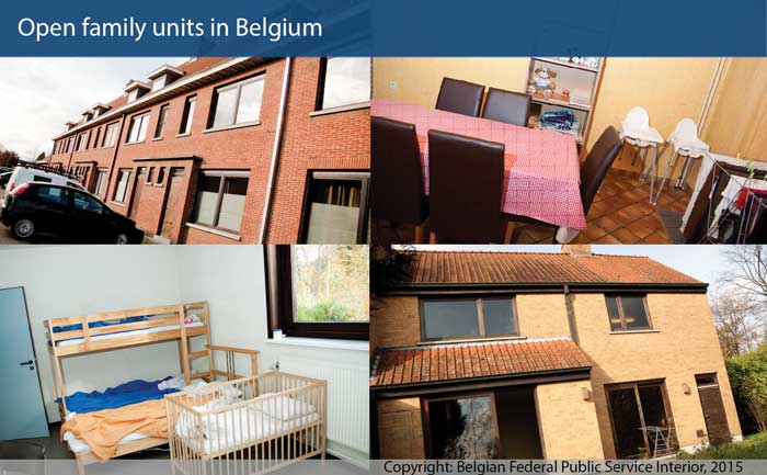Open family units in Belgium used as an alternative to detention