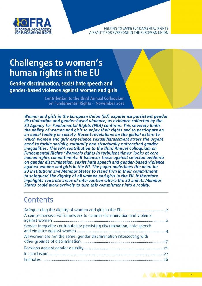 Challenges To Womens Human Rights In The Eu  European Union Agency  Challenges To Womens Human Rights In The Eu  European Union Agency For  Fundamental Rights English Essay Speech also Us Research Writers  Professional Writing Website