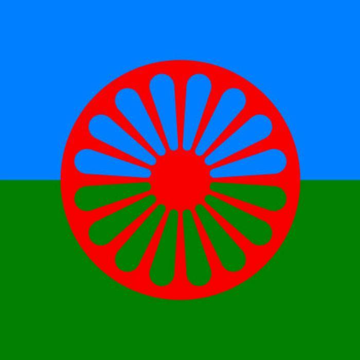 The Romani flag
