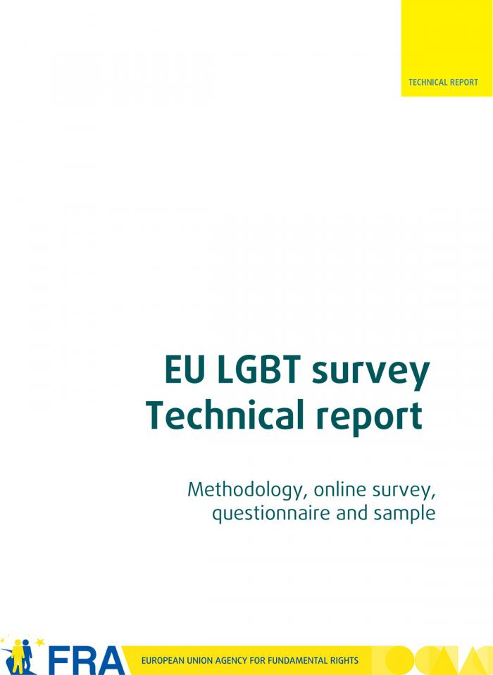Eu Lgbt Survey  Technical Report  European Union Agency For