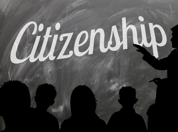 how citizenship education is educated Be that as it may, a basic premise for the safeguard of self-fulfillment is the availability of a comforting maneuvering ground for one and all and an opportunity to enter a 'space of appearance' with a gate to a 'citizenship of the world.