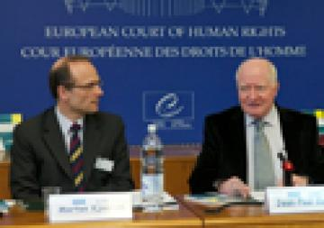 FRA Director Morten Kjaerum and Jean Paul Costa, president of the ECHR