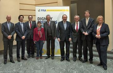 German Parliament's Petitions Committee with FRA staff