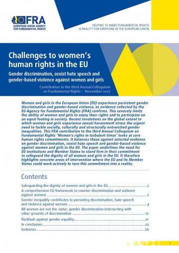 Challenges to women's human rights in the EU