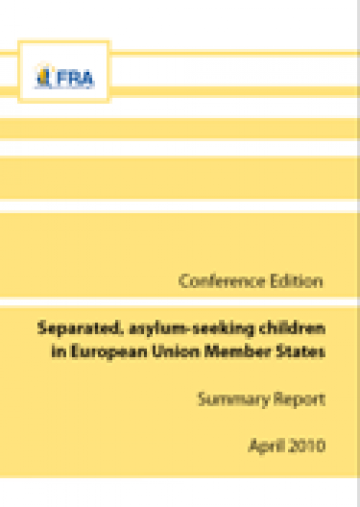 Cover of the Summary Report: Separated, asylum-seeking children in European Union Member States (Conference Edition)