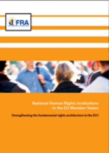 Cover of the National Human Rights Institutions in the EU Member States report