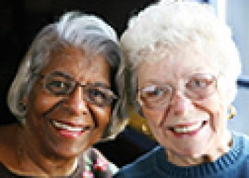 Image of 2 senior woman on occasion of the World Mental Health Day