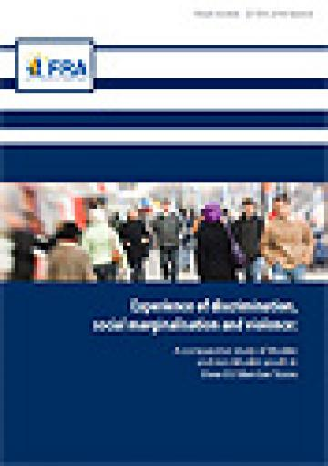 FRA Cover - Experience of Discrimination, Social Marginalisation and Violence among Muslim and non-Muslim Youth
