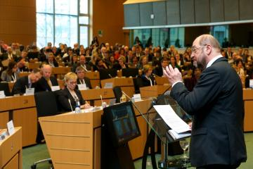 European Parliament President Martin Schulz addresses the plenary