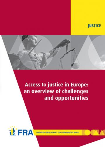 Cover of the FRA report on Access to Justice