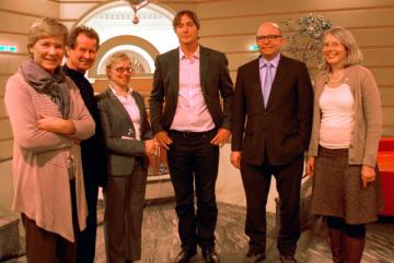 The FRA Executive Board pictured in December 2012, l-r: Maud de Boer-Buquicchio (Council of Europe), Manfred Nowak, Maija Sakslin, Hent-Raul Kalmo, Paul Nemitz (European Commission), Frauke Seidensticker.