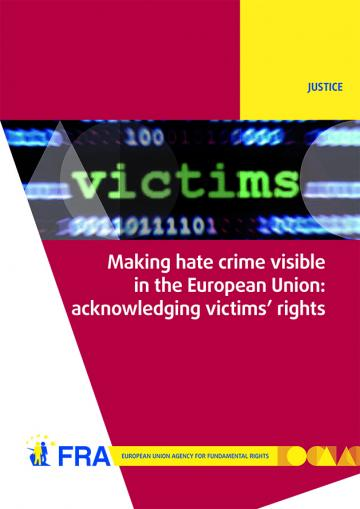 Hate crime report - cover