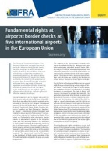 fundamental rights at airports border checks at five international