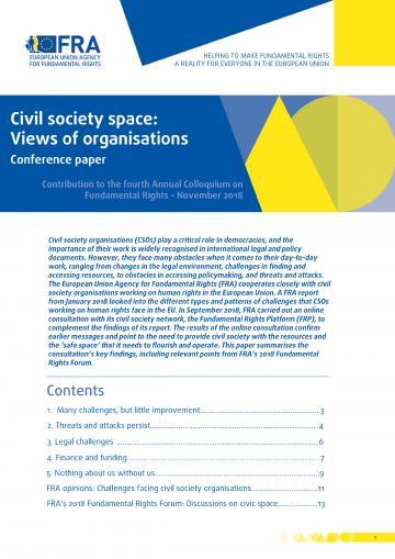 Zivilgesellschaftlicher Raum: Erfahrungen zivilgesellschaftlicher Organisationen - Kolloqium Grundrechte