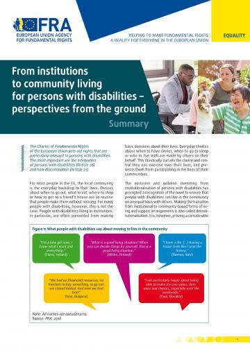 From institutions to community living for persons with disabilities – perspectives from the ground - Summary