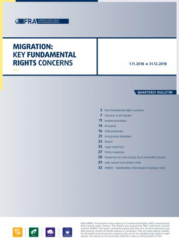 Migration: Key fundamental rights concerns - Quarterly bulletin 1