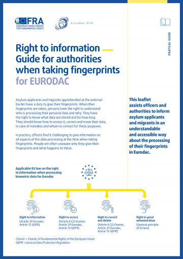 Right to information for authorities taking fingerprints for EURODAC