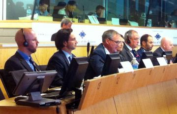 FRA's Friso Roscam Abbing (centre) addresses the FRA/Committee of the Regions Annual Dialogue in Brussels, 24 September 2013