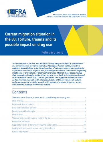 Current migration situation in the EU: Torture, trauma and its possible impact on drug use