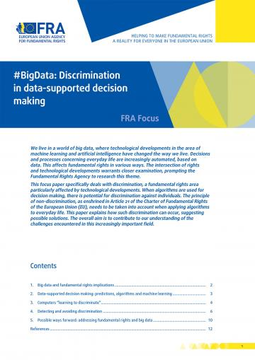 #BigData: Discrimination in data-supported decision making