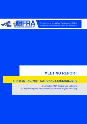 FRA national stakeholders meeting report | European Union ...