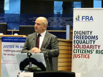 Council of Europe Commissioner for Human Rights Nils Muižnieks addressing the FRC