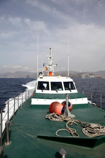 Frontex boat off the coast of Spain 2012