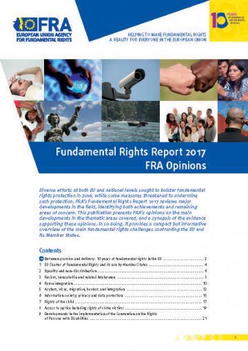 Grundrechte-Bericht 2017 - FRA Stellungnahmen