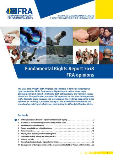 Fundamental Rights Report 2018 - FRA opinions