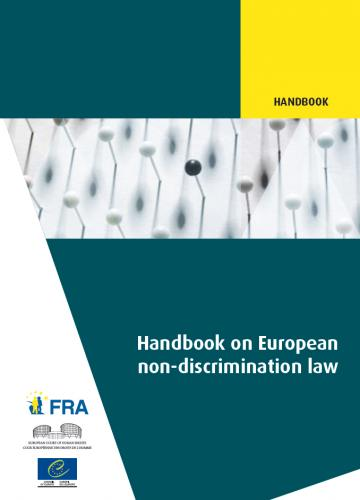 Cover of the handbook on non-discrimination law