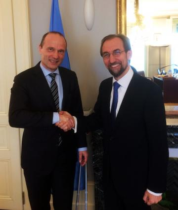 FRA Director meets UN High Commissioner for Human Rights