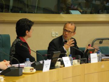 Barbara Lochbiler, Chair, Subcommittee on Human Rights, Morten Kjaerum, FRA Director