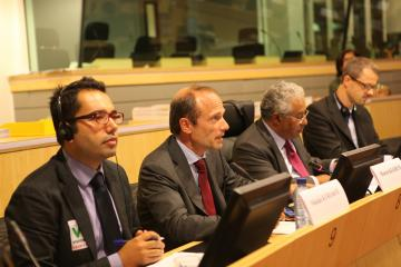 FRA Director Morten Kjaerum (2nd left) addresses the FRA-Committee of the Regions Annual Dialogue in Brussels, 24 September 2012