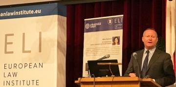 FRA Director speaks on human rights challenges at European Law Institute conference