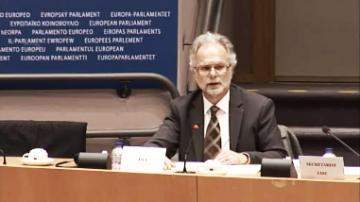 Ioannis N. Dimitrakopoulos presents FRA's work on hate crime in the European Union at the LIBE Committee meeting