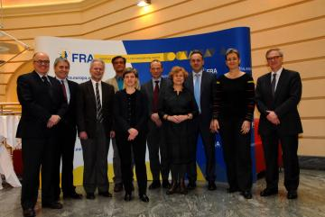 The FRA Director and management team with members of the European Parliament's LIBE Committee during their visit on 15 February 2013