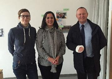 FRA Director Michael O'Flaherty with Maria Böttche and Meltem Arsu from the BZFO, Berlin, 15.03.2016