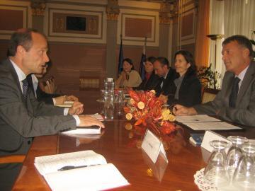 Dr Senko Pličanić, Slovenian Minister of Justice, Morten Kjaerum, FRA Director