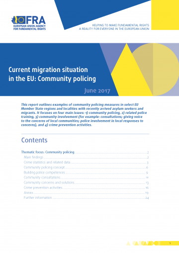 Current migration situation in the EU: Community policing
