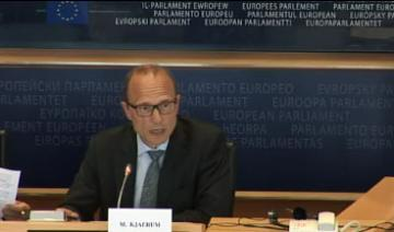 FRA Director Morten Kjaerum addresses the European Parliament's LIBE Committee, 4 September 2014