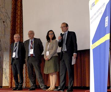 f.l.t.r: Jozef de Witte, Equinet, Christos Giakoumopoulos, CoE, Debbie Kohner, ENNHRI, Morten Kjaerum, FRA