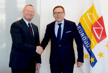 FRA Director Michael O'Flaherty meets Eurojust President Ladislav Hamran, 5 July 2018