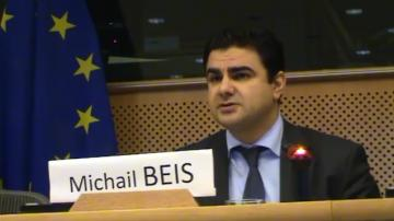 Michail Beis, FRA expert on Roma issues talking at conference 'Roma people in Europe in the 21st century: violence, exclusion, insecurity'