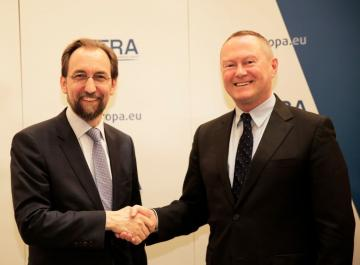 High Commissioner for Human Rights Zeid Ra'ad Al Hussein and FRA Director, Michael O'Flaherty