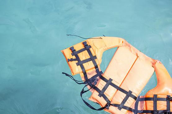 Lifejacket at sea