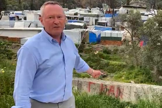 FRA Director Michael O'Flaherty on Samos, Greece, April 2021
